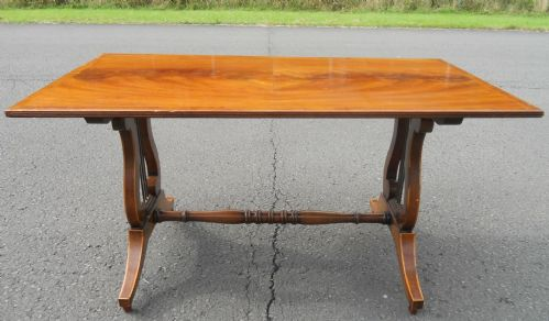 Lyre End Mahogany Rectangular Coffee Table